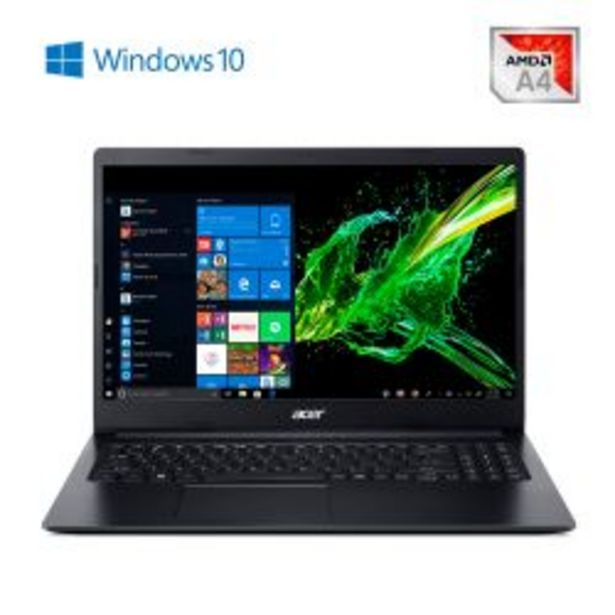 "Oferta de Notebook 15,6"" AMD A4 4GB 500GB Aspire 3 A315-22-47SL por $45999"