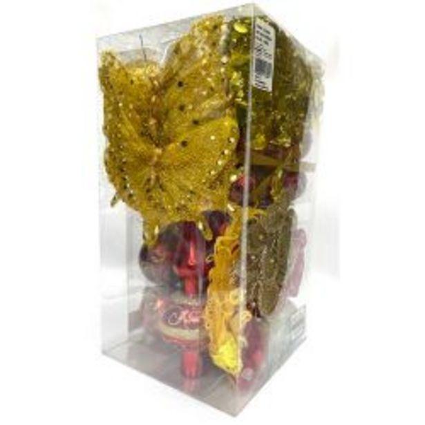 Oferta de Adorno Navideño Kit x 60 Piezas Rojo-Oro por $2999