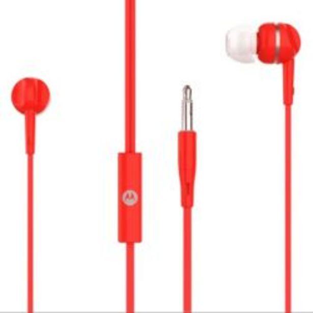 Oferta de Auriculare Motorola In Ear Pace 105 Manos Libres Con Microfono Rojo por $612