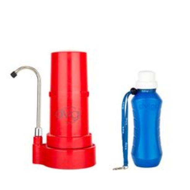 Oferta de Purificador de Agua Sobre Mesada Dvigi Rojo+ Botella purificadora por $12879