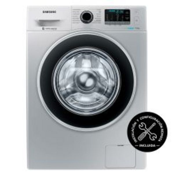 Oferta de Lavarropas Carga Frontal Inverter Samsung 9 Kg 1400 RPM WW90J5410GS Plateado por $70199