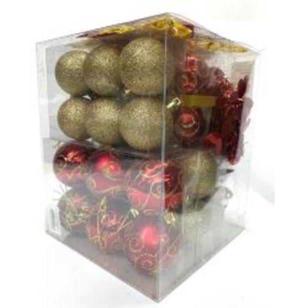 Oferta de Adorno Navideño Kit x 36 Piezas Rojo-Oro por $1599