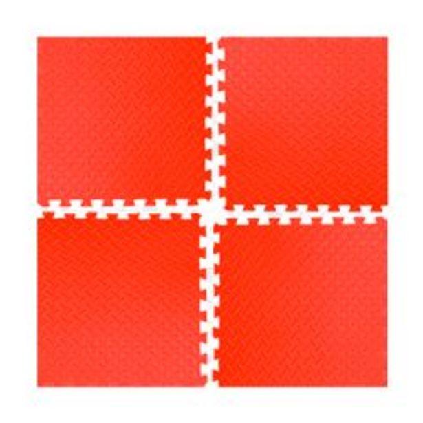 Oferta de Piso de goma eva rojo PGE-50 Rooby Alfombra antigolpes encastrable por $1199