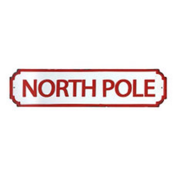Oferta de Cartel Deco Polo Nort 71X18 Cm. Tradicional por $1045