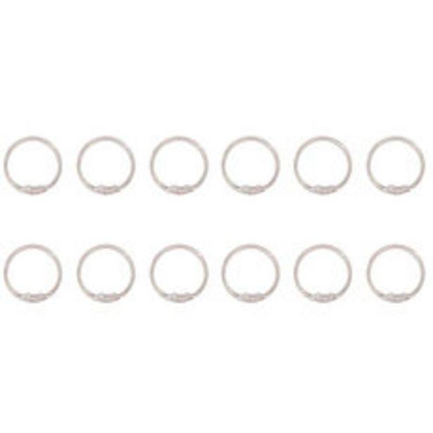 Oferta de Set x12 Ganchos Plásticos Transparentes por $199