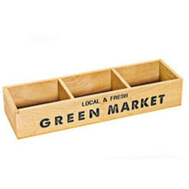 Oferta de Cajon 13x40 Cm. 3 Divisiones Green por $799