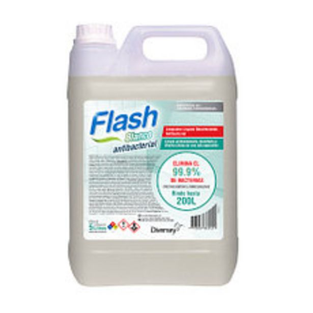 Oferta de Limpiador Flash Antibacterial Blanco X5L por $529