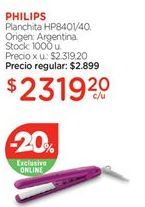 Oferta de Planchita HP8401/40. por