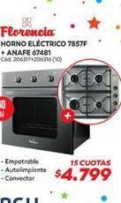 Oferta de Horno eléctrico + anafe Florencia por