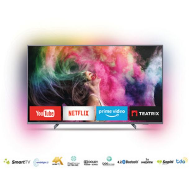 Oferta de SMART TV PHILIPS 65 PULGADAS 4K UHD 65PUD6794/77 por $112399