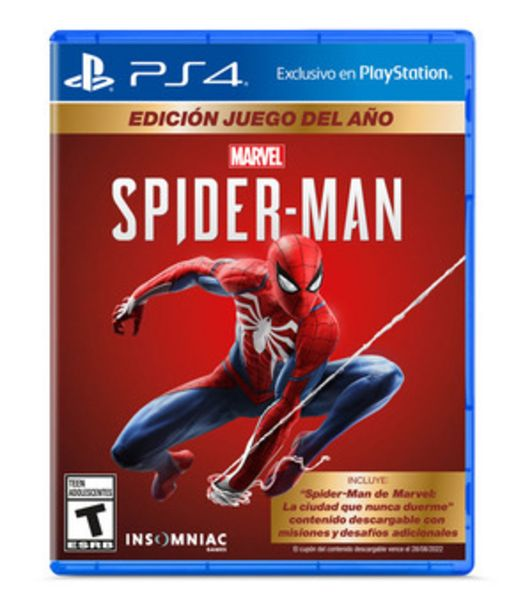 Oferta de JUEGO PARA PS4 SPIDERMAN GOTY por $5099