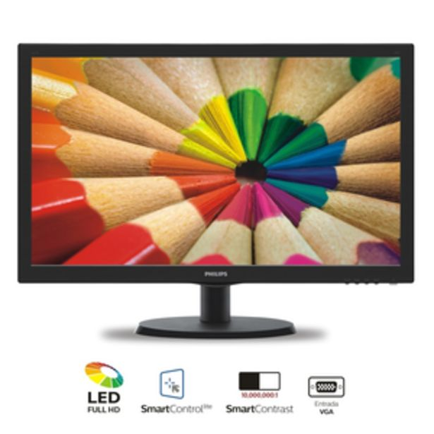 Oferta de MONITOR LED PHILIPS FHD 243V5LHSB por $24399