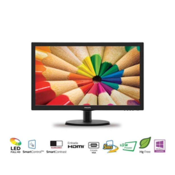 Oferta de MONITOR LED PHILIPS FHD 223V5LHSB2/77 por $19099