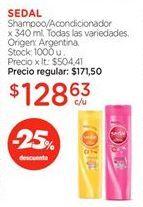 Oferta de Shampoo/Acondicionador x 340 ml. por