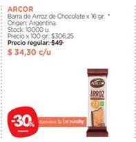 Oferta de Barra de Arroz de Chocolate x 16 gr. por