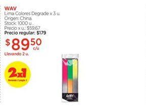 Oferta de Lima Colores Degrade x 3 u. por