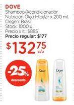 Oferta de Shampoo/Acondicionador Nutrición Óleo Micelar x 200 ml. por