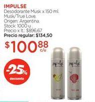 Oferta de Desodorante Musk x 150 ml. por