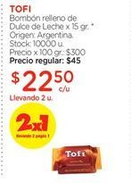 Oferta de Bombón relleno de Dulce de Leche x 15 gr. por