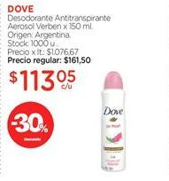 Oferta de Desodorante Antitranspirante Aerosol Verben x 150 ml. por