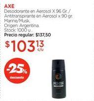 Oferta de Desodorante en Aerosol X 96 Gr. / Antitranspirante en Aerosol x 90 gr. por