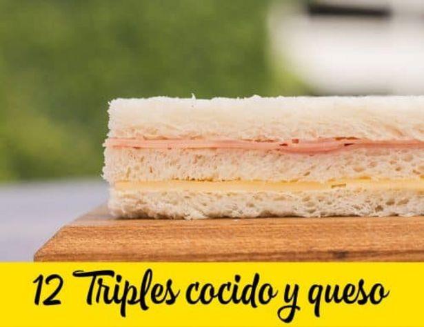 Oferta de 12 Triples jamón y queso por $490