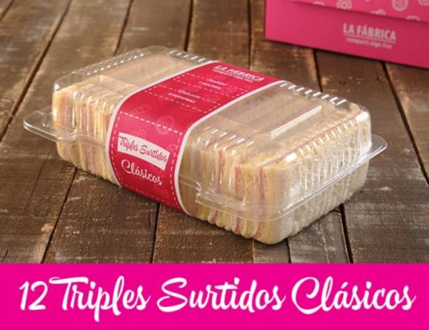 Oferta de Triples Surtidos Clásicos x 12 por $480