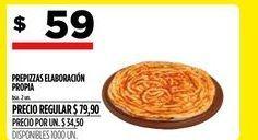 Oferta de Prepizza elaboración propia por $59