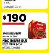 Oferta de Hamburguesas Swift por $190