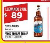 Oferta de Cerveza Quilmes por $89