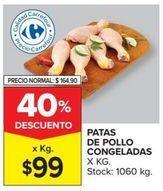 Oferta de Muslos de pollo por $99
