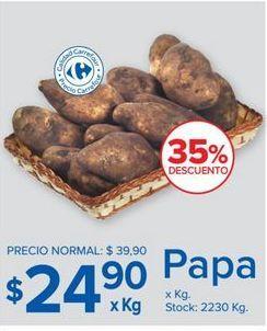 Oferta de Papas Carrefour por $24,9