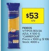 Oferta de Fideos Carrefour por $53