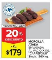 Oferta de Morcilla Carrefour por $179