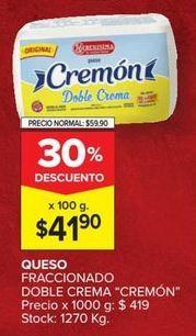 Oferta de Quesos La Serenísima por $41,9
