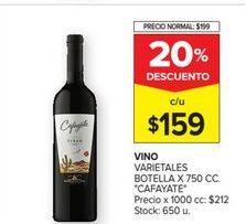 Oferta de Vino tinto Cafayate por $159
