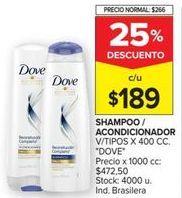 Oferta de Shampoo Dove por $189