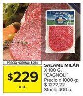 Oferta de Salame Cagnoli por $229
