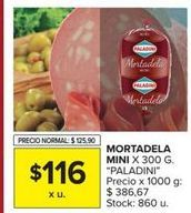 Oferta de Mortadela Paladini por $116
