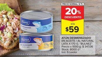 Oferta de Atún desmenuzado en aceite vegetal por $59