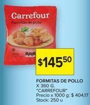 Oferta de Nuggets de pollo Carrefour por $145,5
