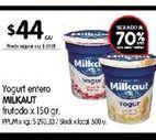 Oferta de Yogur entero Milkaut frutado por $44