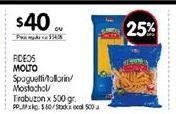Oferta de Fideos Molto por $40