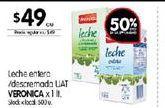 Oferta de Leche entera/descremada UAT Véronica por $49