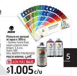 Oferta de Pintura en aerosol al agua x 300cc por $1005