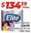 Oferta de Papel higiénico Elite por $134,39