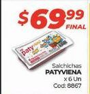 Oferta de Salchichas Paty por $69,99