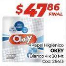Oferta de Papel higiénico Okey por $47,86