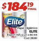 Oferta de Papel higiénico Elite por $184,19