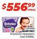 Oferta de Pañales Babysec por $556,99